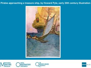 Pirates approaching a treasure ship, by Howard Pyle, early 20th century illustration