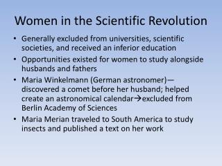 Women in the Scientific Revolution