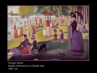 Georges Seurat Sunday Afternoon at La Grande Jatte 1884 - 86