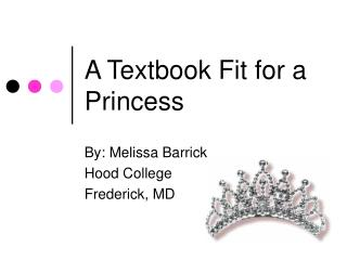 A Textbook Fit for a Princess