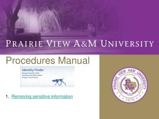Procedures Manual