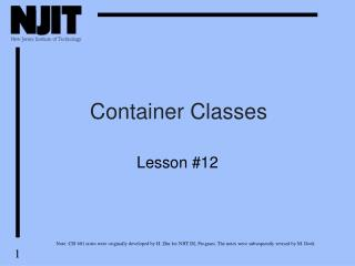 Container Classes