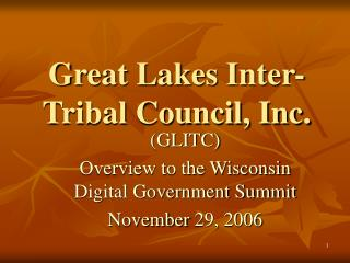 Great Lakes Inter-Tribal Council, Inc.