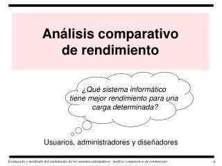 Análisis comparativo  de rendimiento