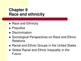 Chapter 9 Race and ethnicity