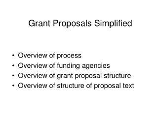 Grant Proposals Simplified