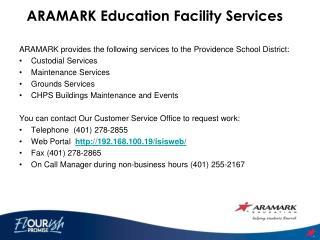 ARAMARK Education Facility Services