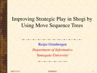 Improving Strategic Play in Shogi by Using Move Sequence Trees