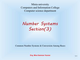 Number Systems Section(3)