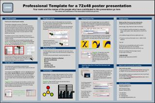 professional template for a 72x48 clinical study poster, Presentation templates