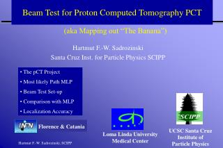 Beam Test for Proton Computed Tomography PCT