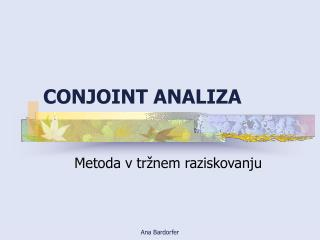 CONJOINT ANALIZA