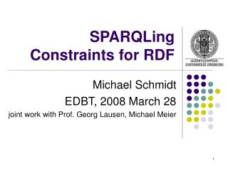 SPARQLing Constraints for RDF