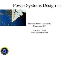 Morehead State University Morehead, KY Prof. Bob Twiggs RJTwiggs@gmail