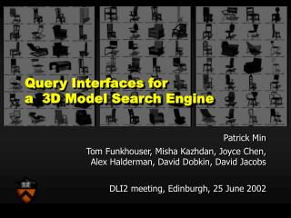 Query Interfaces for a  3D Model Search Engine