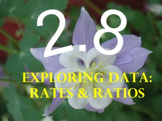 Exploring Data: Rates & Ratios