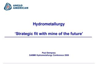 Paul Dempsey  SAIMM Hydrometallurgy Conference 2009