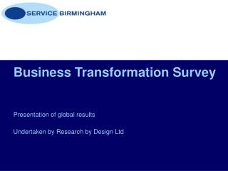 Business Transformation Survey