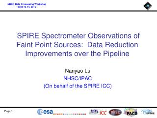 Nanyao Lu  NHSC/IPAC (On behalf of the SPIRE ICC)