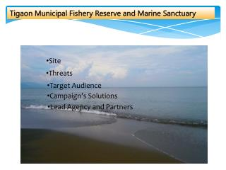 Tigaon  Municipal Fishery Reserve and Marine Sanctuary