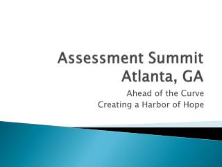 Assessment Summit Atlanta, GA