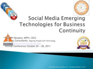 Doreen Nicastro, MPH, CEO Nicastro Consultants,  Aligning People with Technology doreen@nicastroconsultants.com Annual C