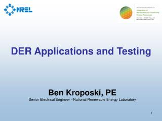 DER Applications and Testing