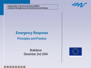 Emergency Response Principles and Practice