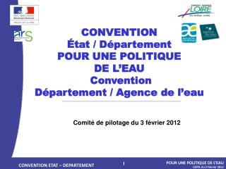 CONVENTION ETAT – DEPARTEMENT