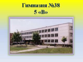 5В класс гимназии №38 г.Минска