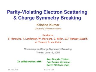Parity-Violating Electron Scattering  & Charge Symmetry Breaking