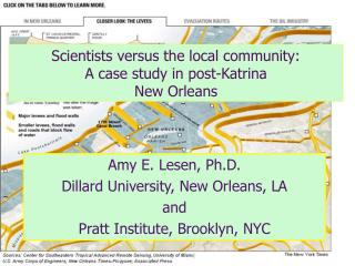 Scientists versus the local community:  A case study in post-Katrina  New Orleans