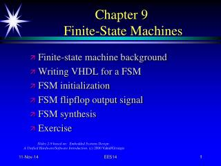 Chapter 9  Finite-State Machines