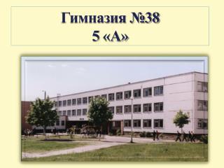 5А класс гимназии №38 г.Минска