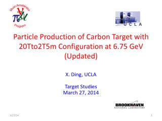 Particle Production of Carbon Target with  20Tto2T5m Configuration at 6.75 GeV (Updated)