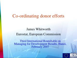 Co-ordinating donor efforts