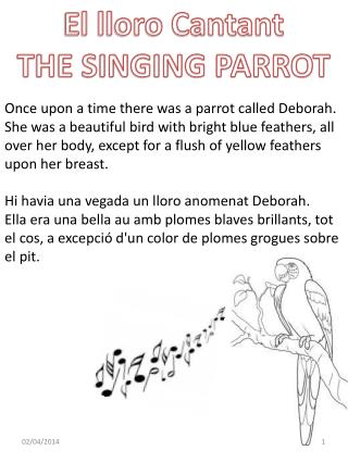 El lloro Cantant THE SINGING PARROT
