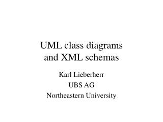 UML class diagrams and XML schemas