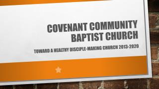 Covenant community Baptist church