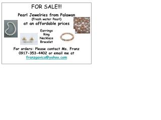 FOR SALE!!! Pearl Jewelries from Palawan (Fresh water Pearl) at an affordable prices Earrings