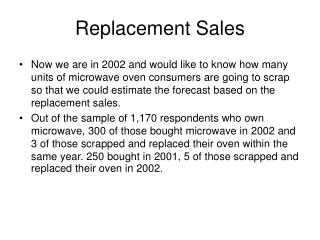 Replacement Sales