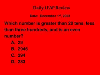 Daily LEAP Review