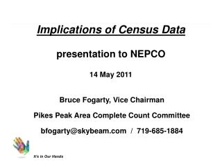 Implications of Census Data presentation to NEPCO 14 May 2011