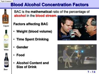 Blood Alcohol Concentration Factors