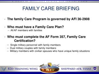 FAMILY CARE BRIEFING