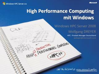 High Performance Computing  mit Windows