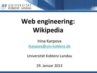 Web  engineering : Wikipedia