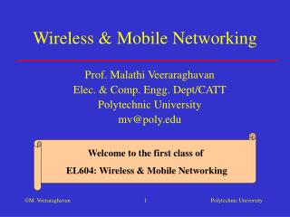 Wireless & Mobile Networking