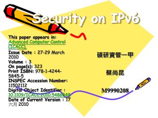 Security on IPv6