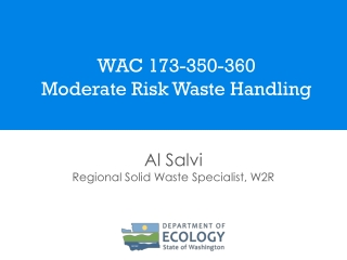 Overview of the Definition of Solid Waste Final Rule